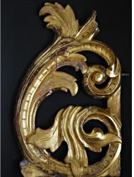 Oczyszczenie z wtórnych warstw – brązów pozłotniczych, farb w kolorze złota (złotol).