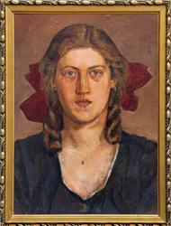 Portret kobiety – stan po konserwacji.